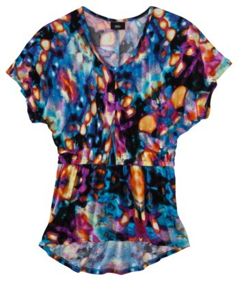 Mossimo Women's Short Sleeve High Low Top - Assorted Prints