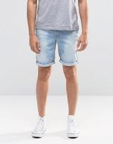 Blend of America Twister Slim Denim Shorts Distressed