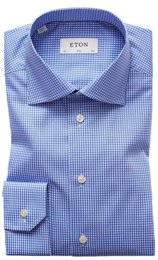 Eton Extra Slim Fit Check Dress Shirt
