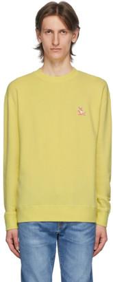 MAISON KITSUNÉ Yellow Yoga Fox Regular-Fit Sweatshirt
