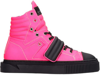 Gienchi Hypnos Sneakers In Rose-pink Leather