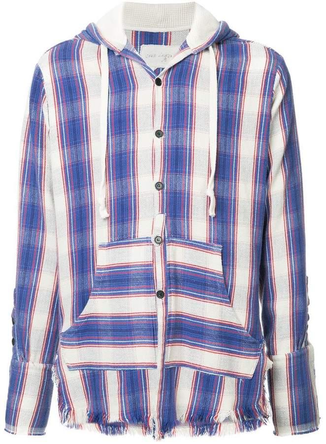 Greg Lauren striped hoodie