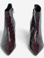 Dorothy Perkins AnicaCrocodile Textured Boots - Burgundy