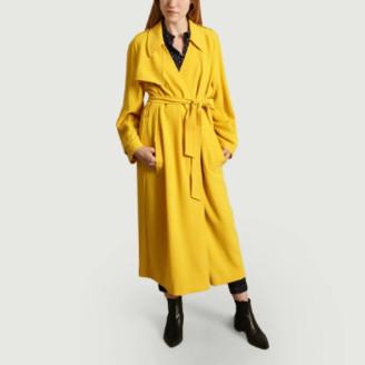 Essentiel Antwerp Yellow Polyester Classic Trench Coat - 34 | polyester | yellow - Yellow/Yellow