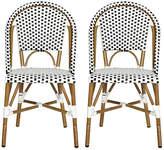 One Kings Lane Black Sasha Bistro Side Chair - Set of 2