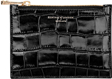 Aspinal of London Essential Croc Effect Leather Small Flat Pouch