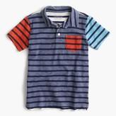 J.Crew Boys' polo shirt in stripe mash-up