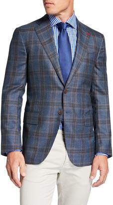 Isaia Men's Plaid Cashmere Sport Jacket