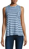 Stateside Striped Pocket Cotton Tank Top