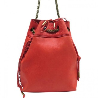 Jerome Dreyfuss Red Leather Handbags