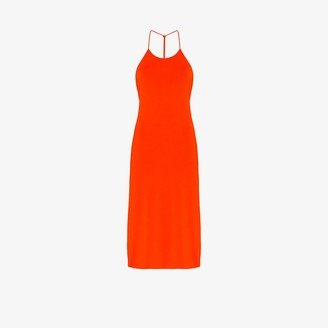 Bottega Veneta Knotted Strap Midi Dress