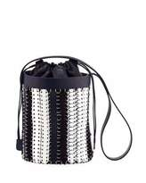 Paco Rabanne 1401 Chain-Link Mini Bucket Bag, Blue