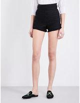 Maje Ingrid pleated shorts