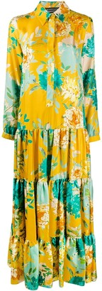 Gianluca Capannolo Floral Print Shirt Dress