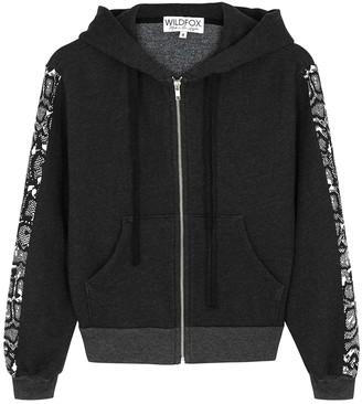 Wildfox Couture Black Printed Jersey Sweatshirt