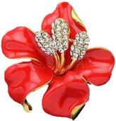 niceEshop(TM) Women Fashion Colorful Rose Flower Elegant Rhinestone Brooch Pin