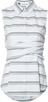 Derek Lam 10 Crosby striped sleeveless shirt - women - Cotton - 0