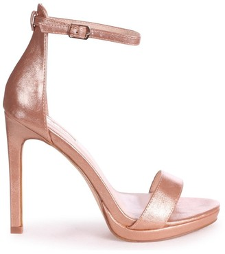 Barely There Linzi GABRIELLA - Rose Gold Metallic Stiletto Heel With Slight Platform