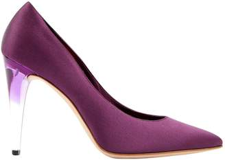 Chanel Purple Cloth Heels