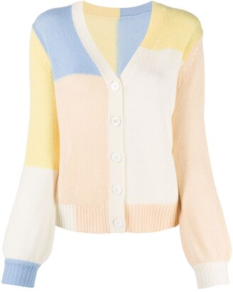 Chinti and Parker Colour-Block Cashmere-Blend Jumper