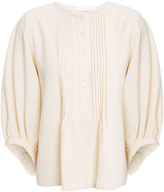 See by Chloe Pintucked Crepe Blouse