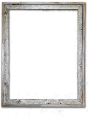 "Rustic Decor Llc Tulsa Signature Reclaimed Rustic Barn Wood Open Frame, 24""x30"""