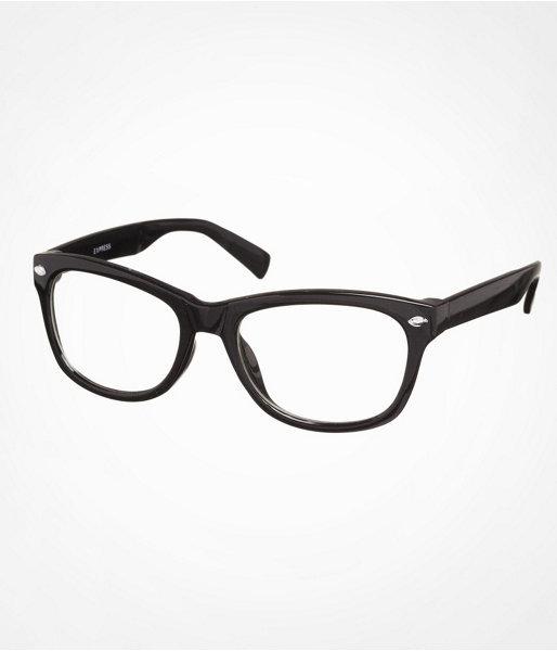 Express Wayfarer-Style Clear Glasses