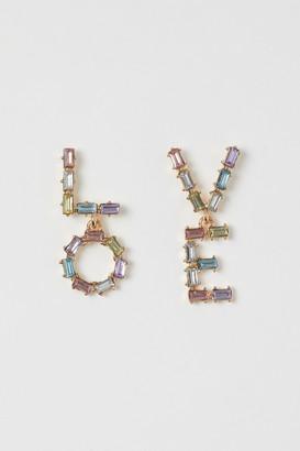 H&M Letter Earrings