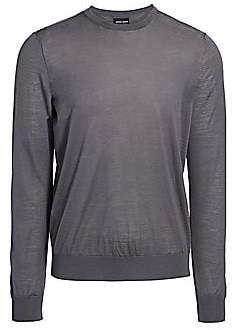 Giorgio Armani Men's Virgin Wool Crewneck Sweater