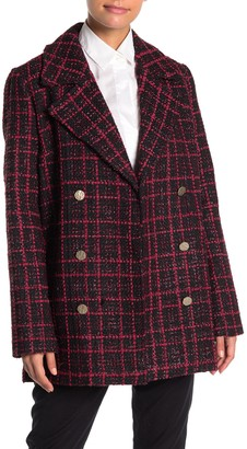 Bagatelle Plaid Notch Collar Jacket