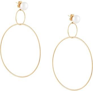NATASHA SCHWEITZER Double Hoop Drop Earrings