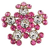Sonia Rykiel Crystal Flower Brooch