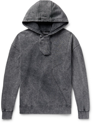 A-Cold-Wall* Fade Out Acid-Washed Loopback Cotton-Jersey Hoodie