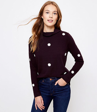 LOFT Dotted Mock Neck Sweatshirt