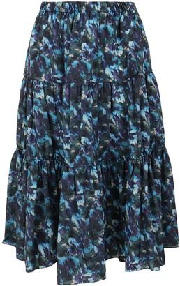 Kenzo Elasticated Midi Skirt