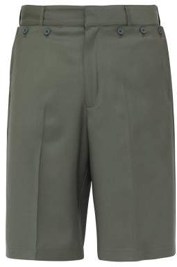 Jacquemus Marin Mid-rise Wool-twill Shorts - Mens - Green