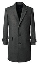 Lands' End Men's Wool Pattern Topcoat-Navy