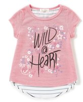 Jessica Simpson Little Girls 2T-6X Wild At Heart Striped Top