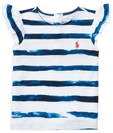 Ralph Lauren Girls' Tie Dye Stripe Top - Baby