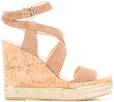 Hogan wedge sandals - women - Leather/Suede/rubber - 36.5