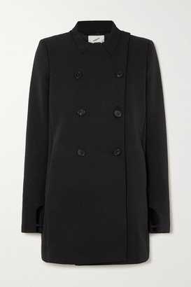 Coperni Double-breasted Grain De Poudre Coat - Black