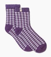 UGG Women's Houndstooth Fleece Lined Sock
