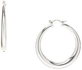 Carole Silvertone Hoop Earrings