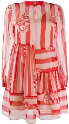 Twin-Set Striped Flared Mini Dress