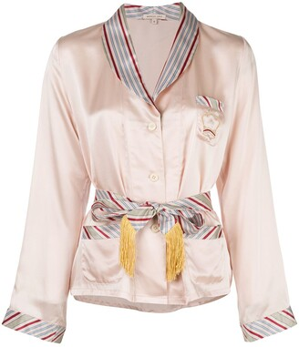 Morgan Lane Eloise belted shirt