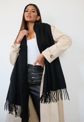 Missguided Black Blanket Scarf