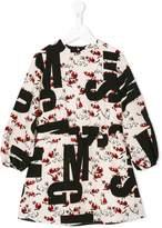 MSGM logo cat print dress