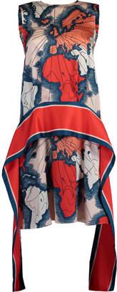 Victoria Victoria Beckham Map Print Scarf Dress
