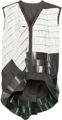 Rick Owens Beaded Cotton-blend Canvas Vest