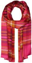 Echo Graphic Plaid Silk Oblong Scarf Scarves